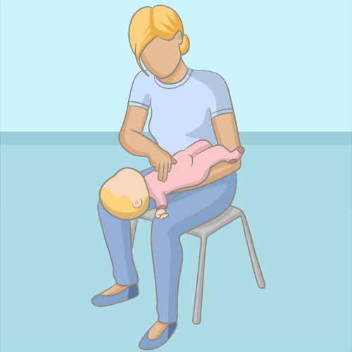 Secourir un nourrisson qui s'étouffe