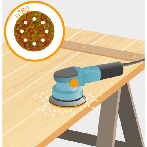 Poncer des volets en bois