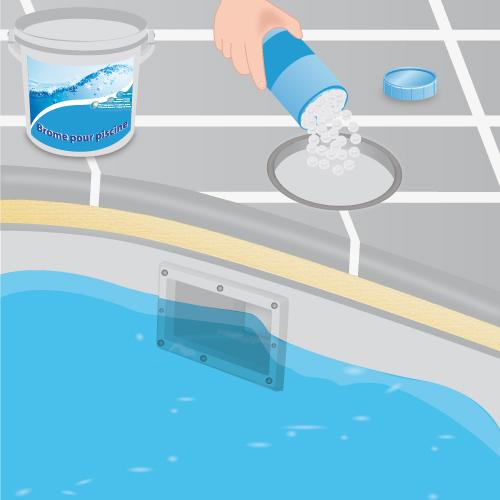 Entretenir une piscine au brome
