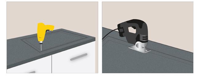 pose d 39 une plaque de cuisson sur un plan de travail ooreka. Black Bedroom Furniture Sets. Home Design Ideas