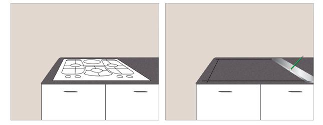 Pose d 39 une plaque de cuisson sur un plan de travail ooreka - Poser une cuisine ...