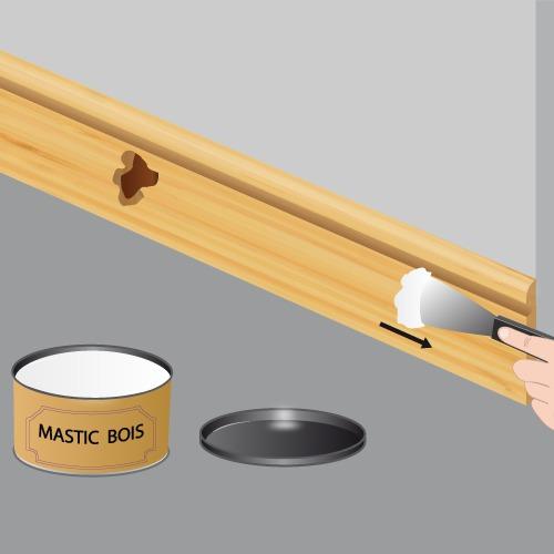 Réparer une plinthe en bois