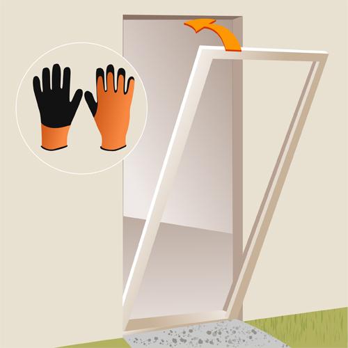 installer une porte d 39 entr e porte. Black Bedroom Furniture Sets. Home Design Ideas