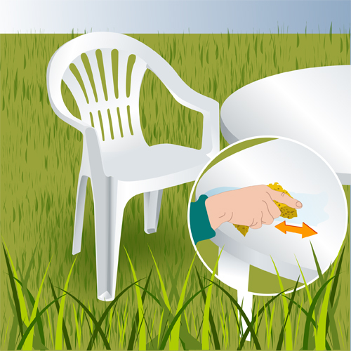Nettoyer des meubles de jardin en plastique - Aménagement de jardin