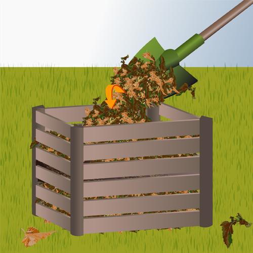 Utiliser des  feuilles mortes