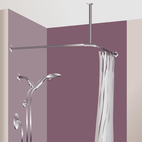 Poser un rideau de douche