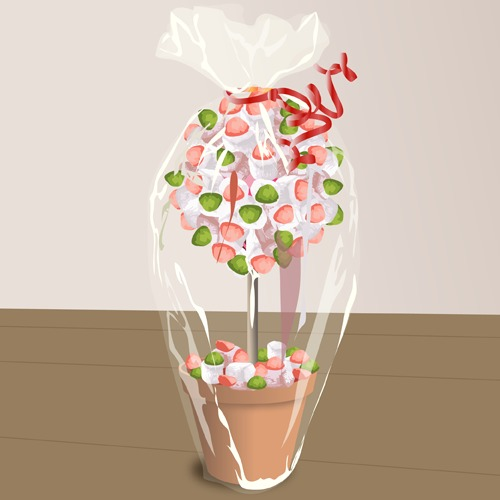 fabriquer un arbre en bonbons d coration. Black Bedroom Furniture Sets. Home Design Ideas