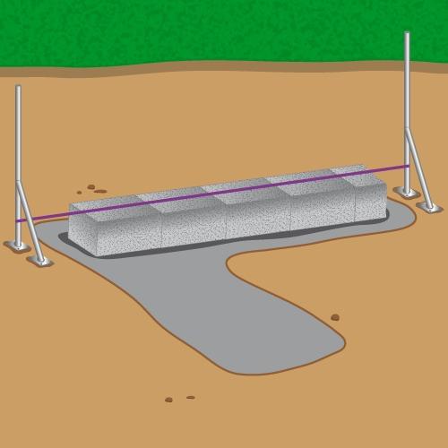 Monter un mur en parpaing mur for Sechage fondation