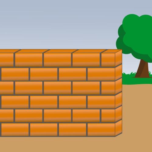 Monter un mur en brique