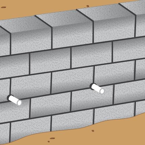 Construire un muret de soutènement