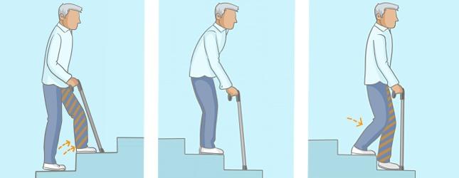 marcher avec une canne rhumatisme