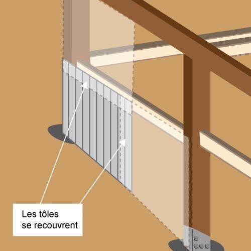 Fabriquer un abri de jardin en t le toit monopente abri de jardin - Comment isoler un toit en tole ...