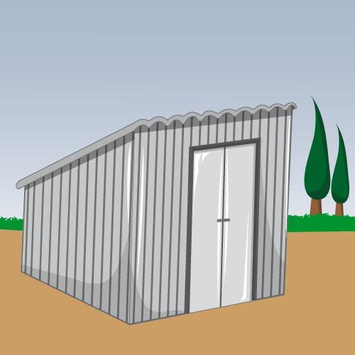 fabriquer un abri de jardin en t le toit monopente. Black Bedroom Furniture Sets. Home Design Ideas