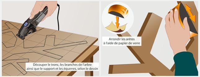 fabriquer un porte-manteau arbre - décoration - Fabriquer Un Porte Manteau En Forme D Arbre