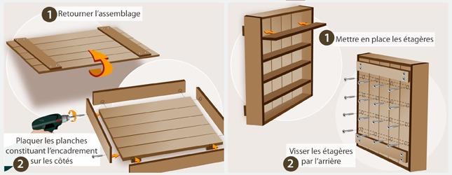 Fabriquer une tag re pices d coration - Fabriquer une etagere en bois ...