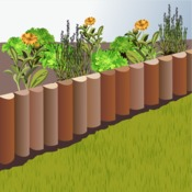 poser une bordure en rondins de bois am nagement de jardin. Black Bedroom Furniture Sets. Home Design Ideas