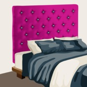 r aliser une t te de lit capitonn e d coration. Black Bedroom Furniture Sets. Home Design Ideas