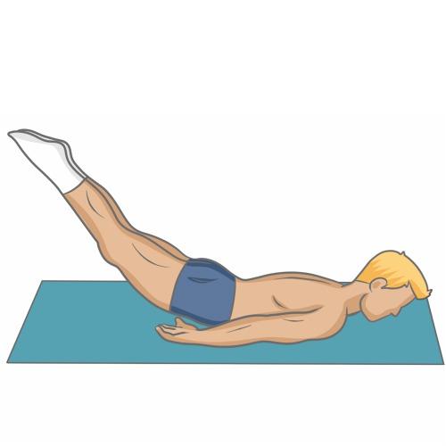 La posture de la sauterelle (Salabhâsana)