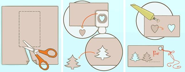fabriquer des tiquettes pour cadeaux d coration. Black Bedroom Furniture Sets. Home Design Ideas
