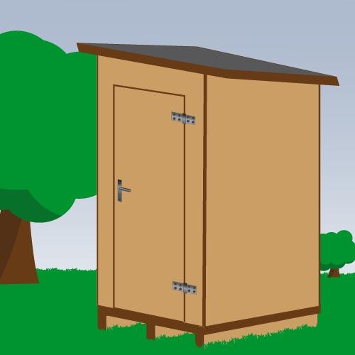 Installer des toilettes sèches à l'extérieur