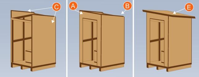 Installer des toilettes s ches l 39 ext rieur wc - Plan de toilette bois ...