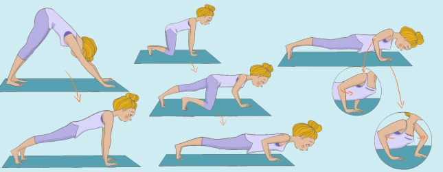 kumbhak sana dand sana la posture de la planche yoga. Black Bedroom Furniture Sets. Home Design Ideas