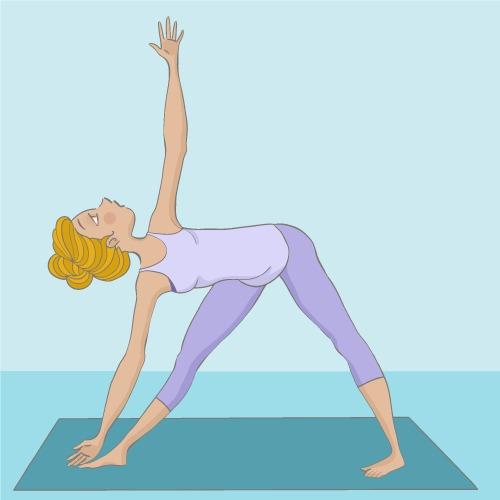 Trikonâsana : la posture du Triangle
