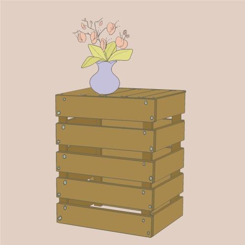 fabriquer une table de chevet en palette - décoration