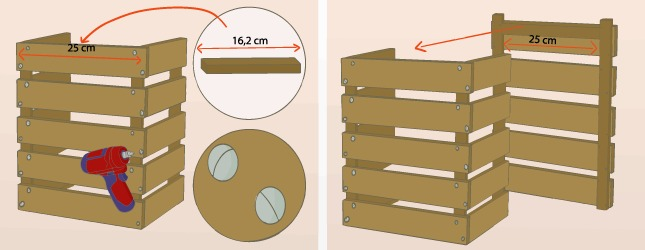 Fabriquer une table de chevet en palette d coration - Faire une table de chevet soi meme ...