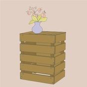 Fabriquer une table de chevet en palette d coration - Table de chevet en palette ...