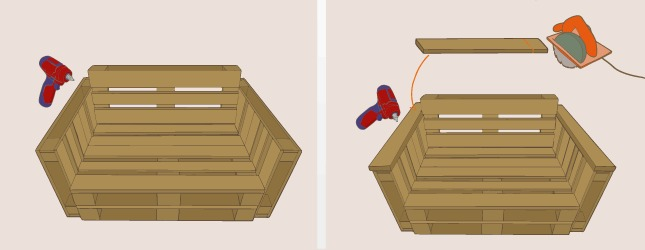 Fabriquer un canap en palette canap - Fabriquer un canape en bois ...