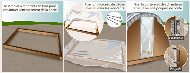 comment construire une serre tunnel. Black Bedroom Furniture Sets. Home Design Ideas