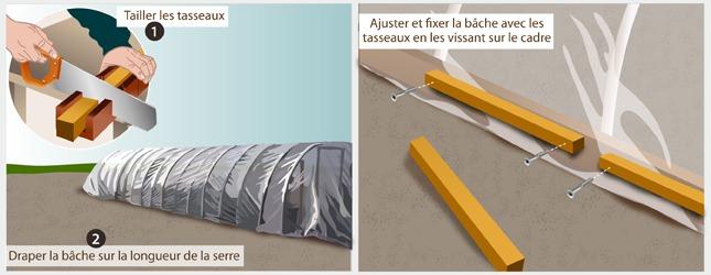 Comment faire une serre - Fabriquer serre tunnel ...