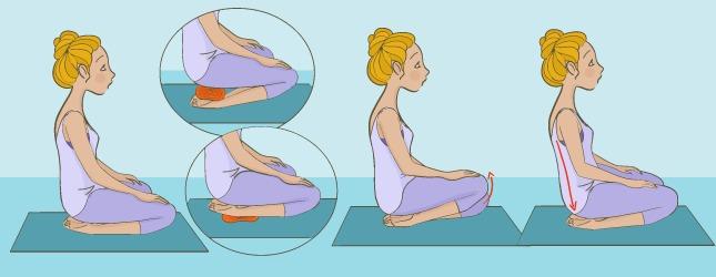 Préparez la posture de l'Enfant Bālasāna
