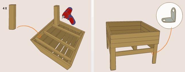 comment fabriquer un potager sur pieds avec des palettes. Black Bedroom Furniture Sets. Home Design Ideas