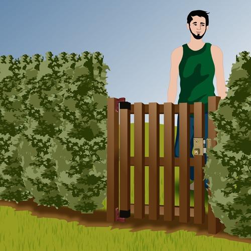 Comment poser un portillon en bois - Portillon jardin bois ...