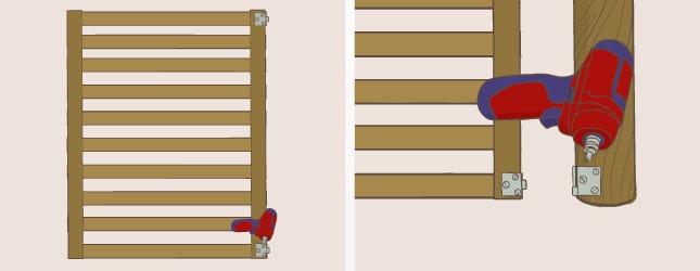 comment fabriquer un portillon en bois de r cup ration. Black Bedroom Furniture Sets. Home Design Ideas