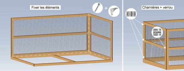 comment construire une voli re ext rieure. Black Bedroom Furniture Sets. Home Design Ideas