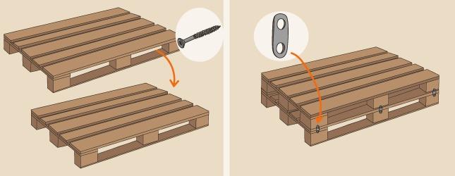 Comment fabriquer une desserte de jardin en palette - Comment assembler deux planches de bois ...
