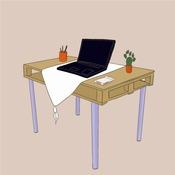 comment fabriquer un bureau en palette. Black Bedroom Furniture Sets. Home Design Ideas