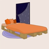 Comment faire un lit en palette - Cherche palettes bois gratuites ...
