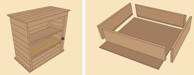 comment fabriquer une commode en palette. Black Bedroom Furniture Sets. Home Design Ideas