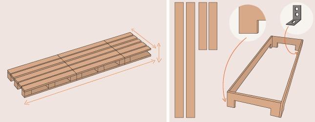 comment fabriquer une chaise longue en palette ooreka. Black Bedroom Furniture Sets. Home Design Ideas