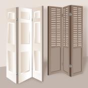 fabriquer un paravent avec des volets anciens d coration. Black Bedroom Furniture Sets. Home Design Ideas