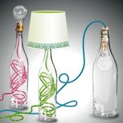 fabriquer une lampe avec une bouteille en verre luminaire. Black Bedroom Furniture Sets. Home Design Ideas