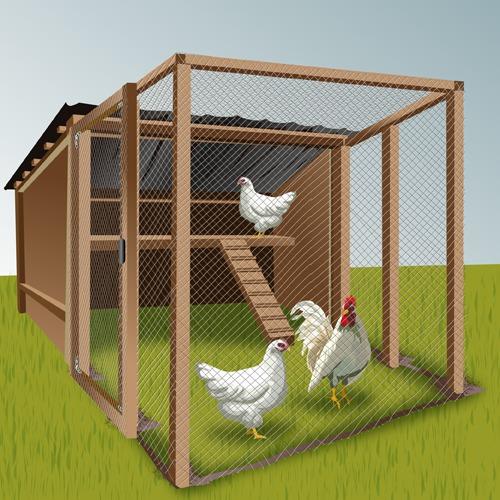 46031c034e45bb Construire un enclos à poules - Ooreka