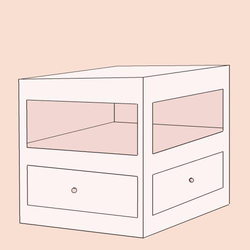 Fabriquer un meuble d'angle à tiroirs en carton