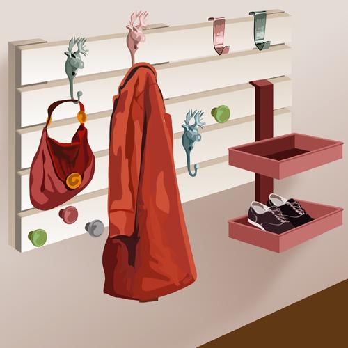Fabriquer un porte manteaux en palette