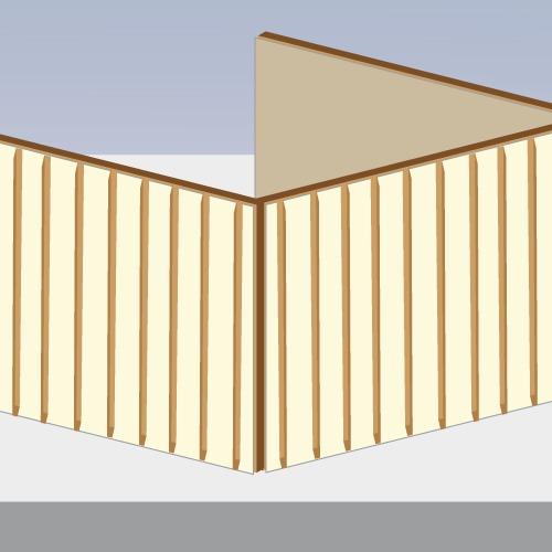 Monter l'ossature d'une maison en bois