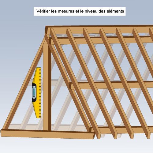 Comment poser la toiture d 39 une maison en bois for Toiture metallique maison